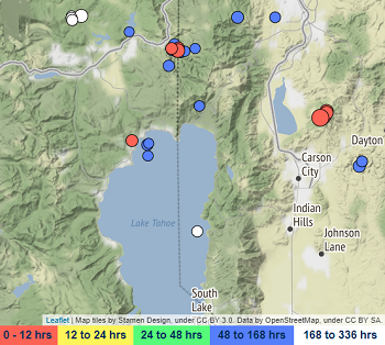Magnitude 3.7 quake rattles south Reno on Thursday night near Arrowcreek